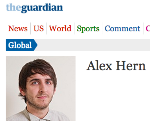 Alex Hern, of the Guardian